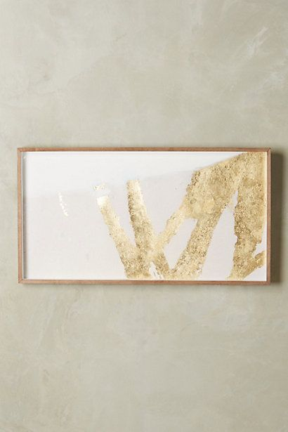 Goldsweep Wall Art #anthropologie