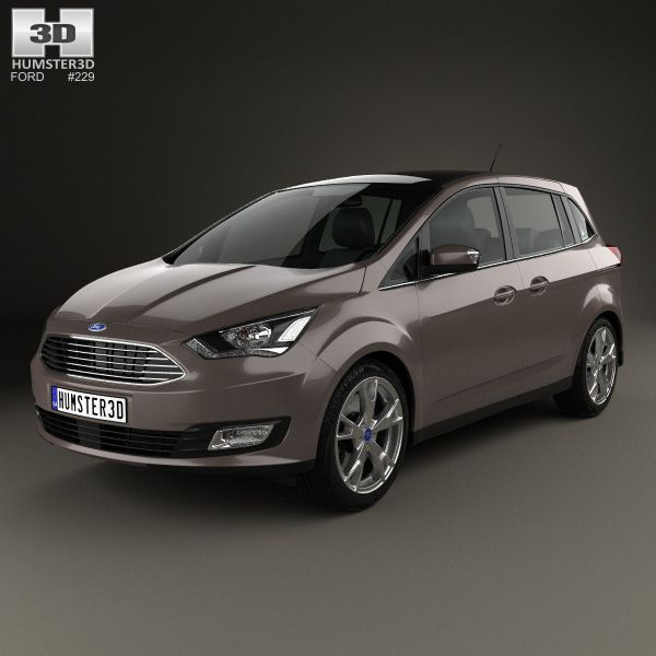 Ford Grand C-Max 2015 3d model from humster3d.com