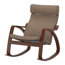 Nursing rocker- POÄNG Rocking chair - Isunda brown, medium brown - IKEA