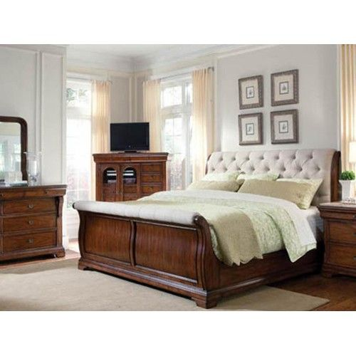 A.R.T. Furniture Inc Margaux Queen Sleigh Bed with Diamond
