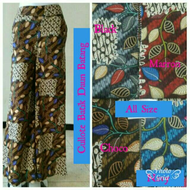 Saya menjual Cullote Batik Daun Batang seharga Rp60.000. Dapatkan produk ini hanya di Shopee! https://shopee.co.id/hamzahnisa21/681238826 #ShopeeID