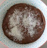 Rauwe chocolade pudding