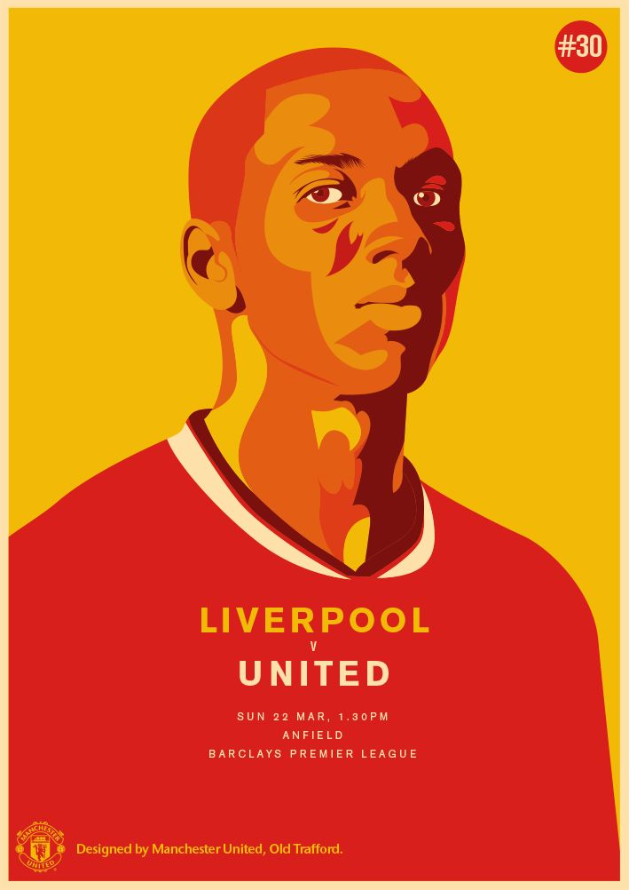 Match poster. Manchester United vs Liverpool, 22 March 2015. Designed by @manutd.