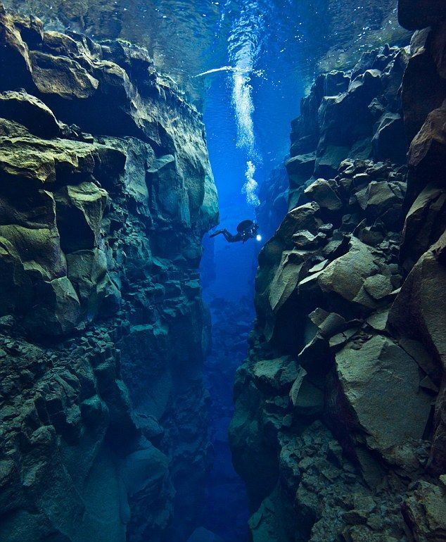 OMG!! I HAVE TO GO SEE THIS!! My life would be complete!!  Tectonic Plate Gap Between Europe and America    The Gap Between Two Continents.