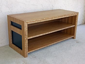 Bamboo Plywood Bench for all of the shoes in the entryway