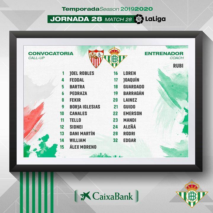 Squad List Real Betis Vs Sevilla Sevilla Bullet Journal Squad