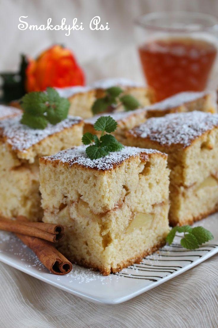 Smakołyki Asi: Ciasto cynamonowe z jabłkami