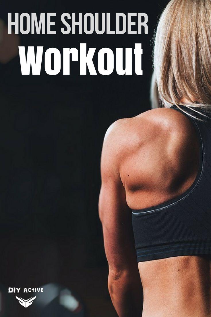 At Home Shoulder and Trap Workout via @DIYActiveHQ #workout