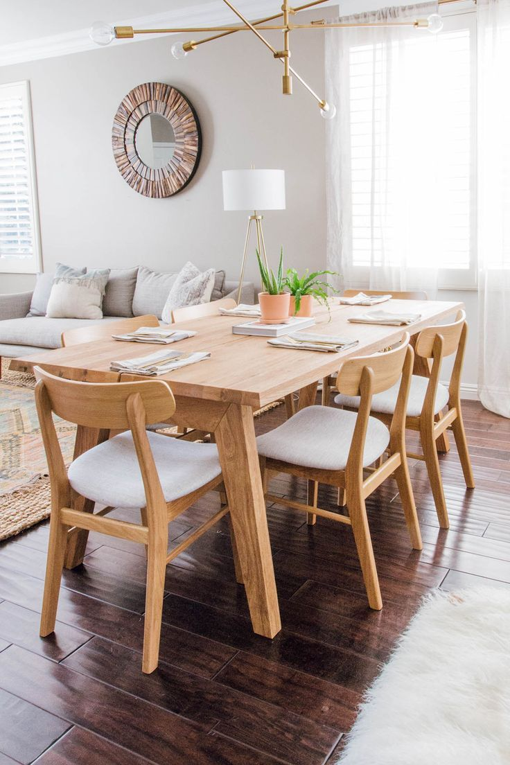 Madera Oak Dining Table For 6 Oak Dining Table Minimalist