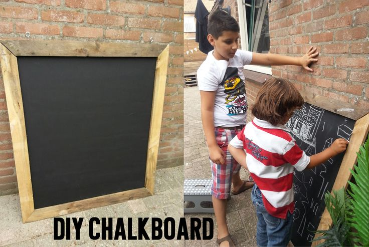 This Summer I made a huge chalkboard for the children.