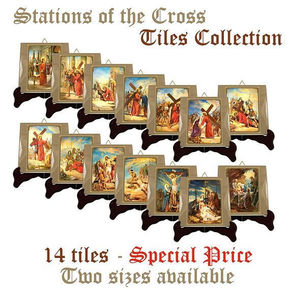 """I am very happy to present my new """" Stations of the Cross """" collectible ceramic tiles serie: >>> https://www.etsy.com/listing/528944312 <<<  14 ceramic tiles (two sizes available). Suitable for indoor or outdoor. Ready to hang. 100% handmade with faith and love in Italy by @TerryTiles2014  You will find them only in my Etsy Store !!!  #viacrucis #stationsofthecross #cross #passion #jesus #christ #christianity #devotion #faith #catholic #catholics #catholicchurch #church #etsyfinds #handmade…"""