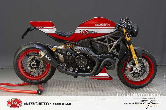 Ducati Monster 1200 S LLC Cafe Racer by GRAFIK ATELIER STEVEN FLIER #motorcyclesdesign #diseñodemotos | caferacerpasion.com