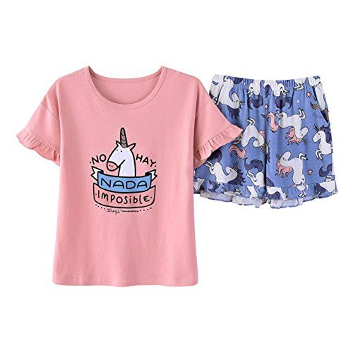 ae0ca4479 YGUII The Children's Place Big Girls' Top and Shorts Pajama Set Pink ...