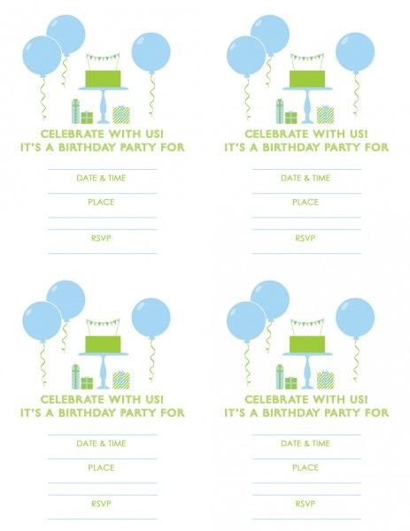 170 best Free Printable Birthday Party Invitations images on – Free Boys Birthday Invitations