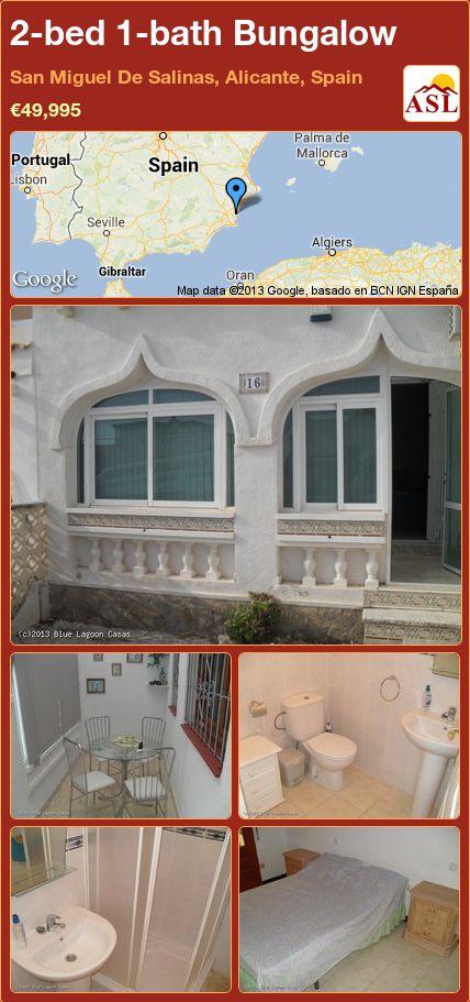 2-bed 1-bath Bungalow in San Miguel De Salinas, Alicante, Spain ►€49,995 #PropertyForSaleInSpain