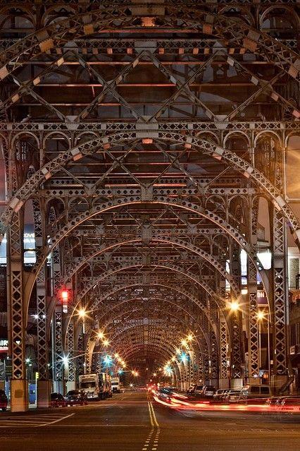 NY...under the busy subway tracks.
