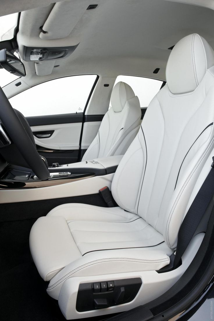2013 BMW 6 Series Gran Coupe Opal White Individual Trim On Sport Seats