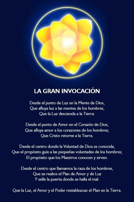 The great invocation in spanish lightworkers amp galactic amp ascended