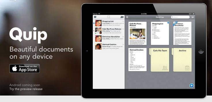 Quip,  document writer in any device
