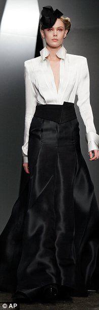Fashion week 2012 Donna Karan's 20's gangster impression.  I like it.