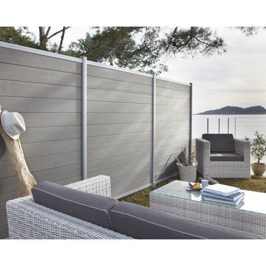 lame en composite kyoto droite leroy merlin jardins pinterest terrasses murs de jardin et. Black Bedroom Furniture Sets. Home Design Ideas