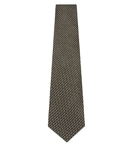 TOM FORD Mini Chevron Silk Tie. #tomford #ties