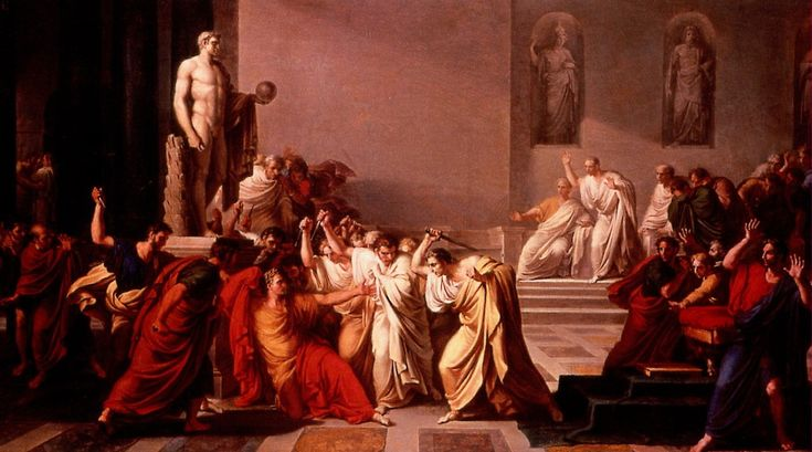 Et tu Brute? On this day in history (March 15th 44 BC)...Julius Caesar was assassinated.