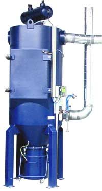 CARTRIDGE DUST COLLECTOR RX - The RX dust collector is a high-suction cartridge dust collector, able to resist significant vacuum pressures of up to 35.000 Pa, with a more effective vacuum for special constructions.