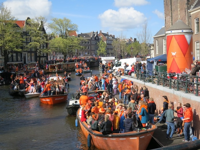 Queens Day is called Kings Day, starting in 2014. One of the best parties in Amsterdam.