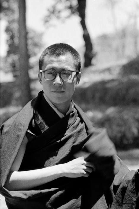 His Holiness the 14th Dalai Lama at Birla House , Mussoorie INDIA 1959