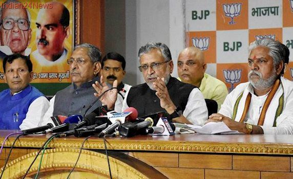 Stop construction of Tejashwi's mall : Sushil Modi to Nitish Kumar