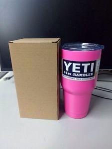 Pink Yeti Cooler Rambler Tumbler 30 oz Insulated Thermos Cup Yeti Mug New | eBay