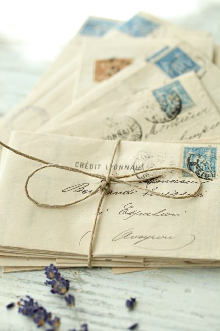 Antique French Letter Bundle  Beautiful French vintage items by Tracey Leber at French Larkspur.