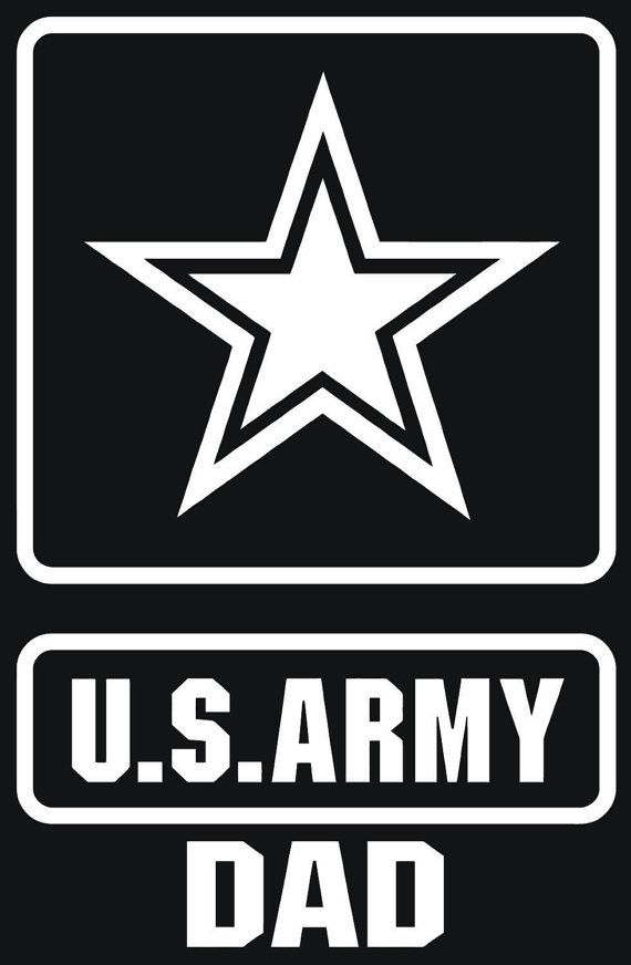 U s army dad custom vinyl graphic decal sticker by vinylgrafix 3 00