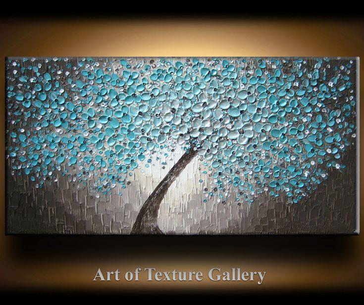48 x 24 Large Oil Impasto Painting Original by artoftexture, $284.99