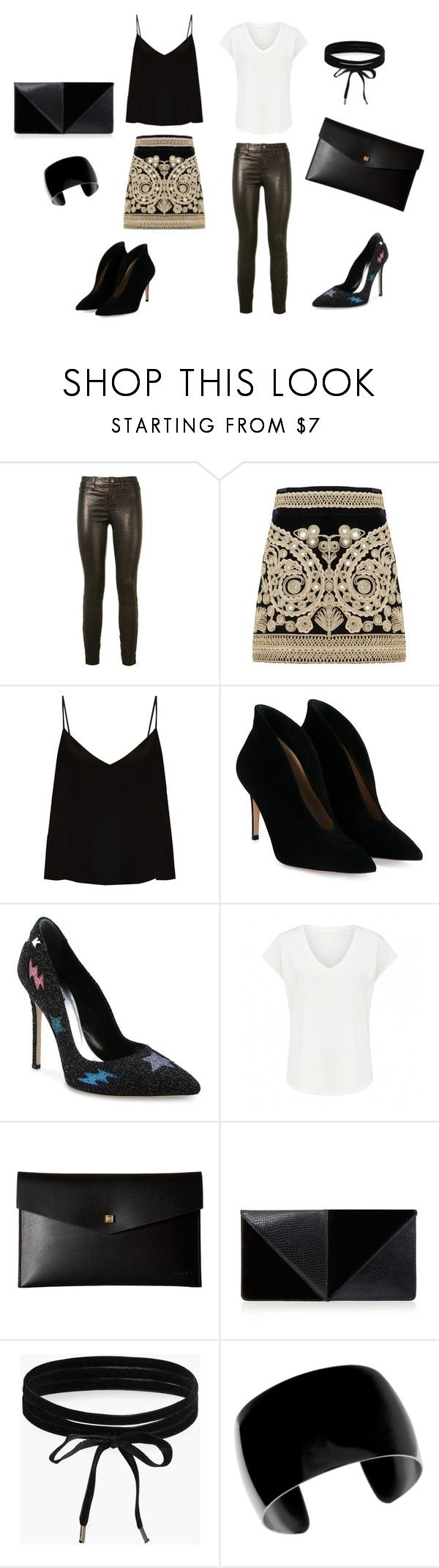 """""""Dramatica. Cena formal con los suegros (20)"""" by jesica-cropanese on Polyvore featuring moda, J Brand, For Love & Lemons, Raey, Gianvito Rossi, Karl Lagerfeld, Lodis, UN United Nude y Boohoo"""