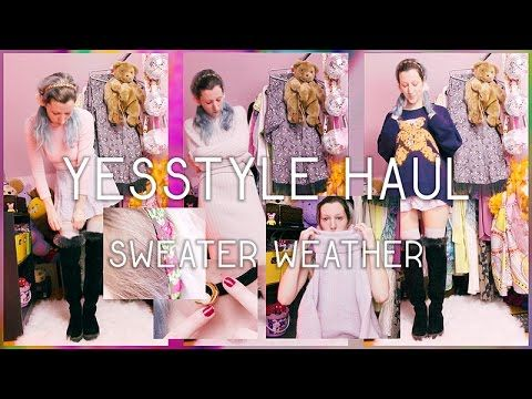 Yesstyle Haul; comparing website photos to actual clothes #yesstyle #haul #youtube #sweater #jumper #winterclothes #fashion #style