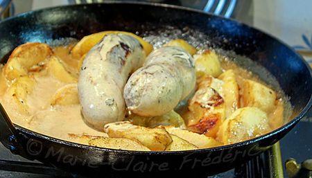 Petit plat d'entre deux fêtes : le boudin blanc dans une recette gourmande et simplissime