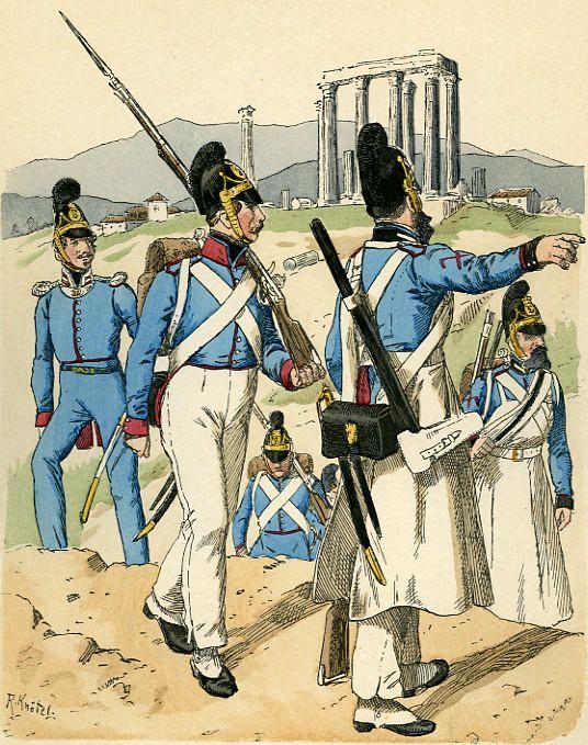 Βαυαρικά στρατεύματα στην Ελλάδα, (Ναύπλιο1833) (infographic) | Ναύπλιο, Ανάπλι, Ναυπλία, Napoli di Romania