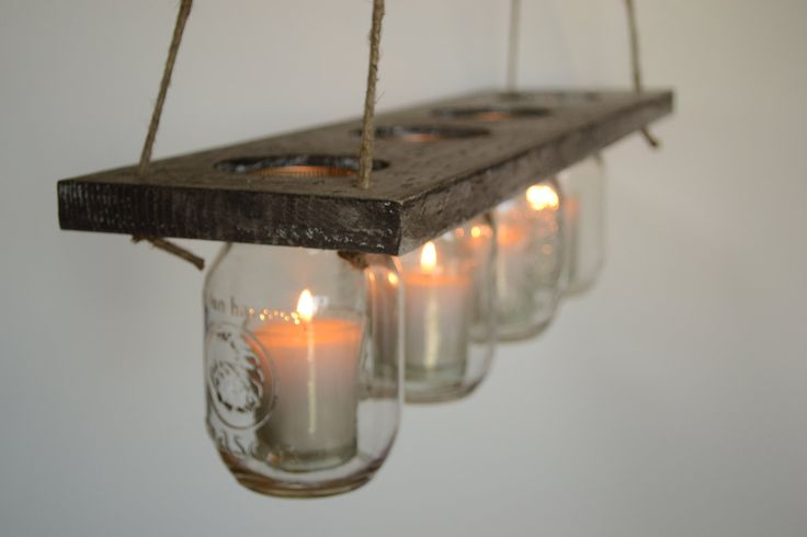 hanging candle holders | Primitive Hanging Candle Holder by SpreadALittleCheer on Etsy