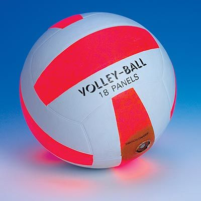 Volleyball Light Up Sports Ball this would have been awesome when I used to play sand volleyball in high school