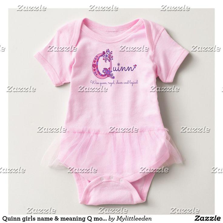 Quinn girls name & meaning Q monogram shirt | Zazzle.com ...