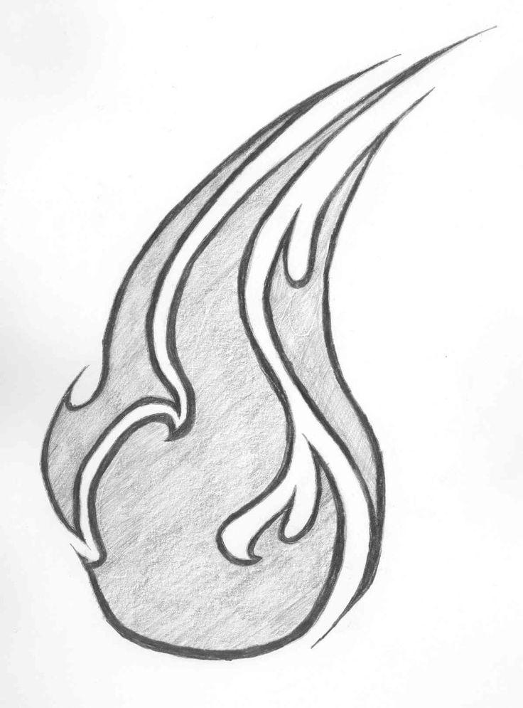 известных рисунки огня карандашом ободок