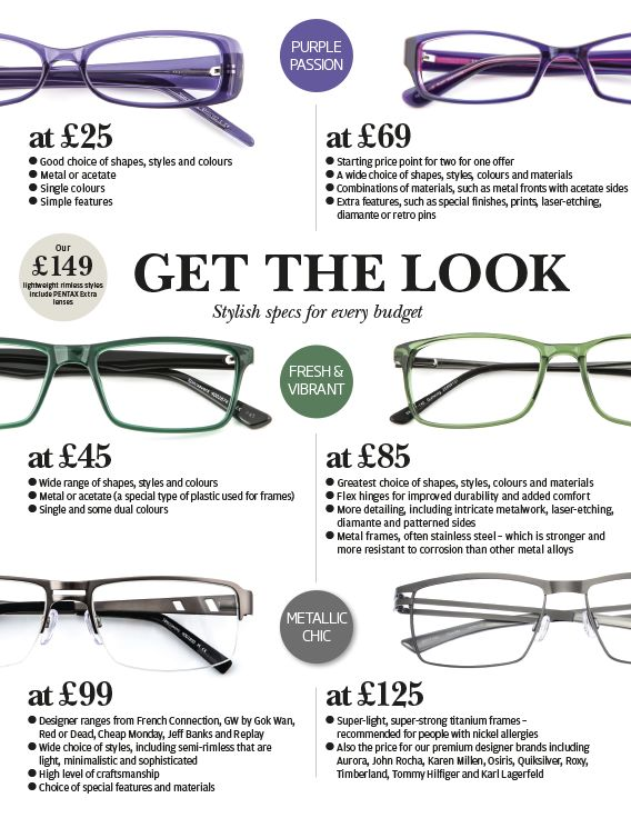 There are glasses for everyone at every price point at Specsavers.