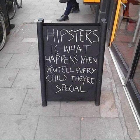 Hipsters Sign | Funny Joke Pictures