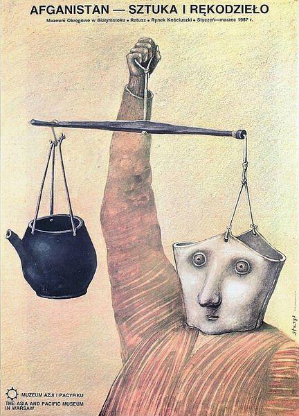 Afghanistan - Art And Crafts Afganistan Sztuka i Rekodzielo Eidrigevicius Stasys Polish Poster