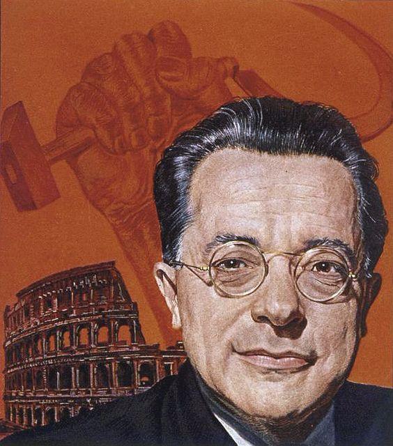 Palmiro Togliatti 1947 TIME over art by Boris Chaliapin