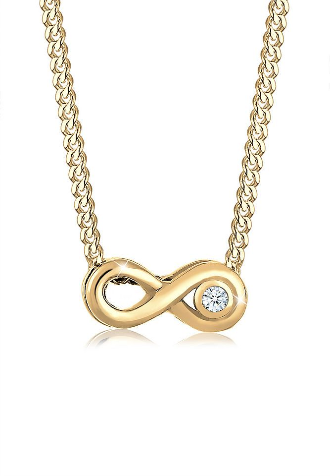 Diamore Halskette »Infinity Ewig Diamant (0.02 ct.) 585 Gelbgold Tina« Jetzt bestellen unter: https://mode.ladendirekt.de/damen/schmuck/halsketten/goldketten/?uid=b263f62b-4556-514a-9379-239bfbb57dbe&utm_source=pinterest&utm_medium=pin&utm_campaign=boards #goldketten #schmuck #halsschmuck #halsketten