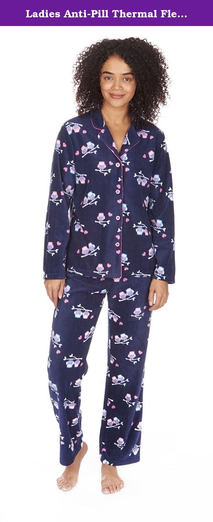 Ladies Anti-Pill Thermal Fleece Check Pajama Set. Keep snug and warm during cold nights and while lounging around the house with these amazing Microfleece Pajama sets! Made from 100% Polyester meaning these are soft, strong, light weight, quick drying and resistant to shrinking, stretching, mildew and creasing! The polyester is of a very popular no-pill microfleece which resist pilling, ensuring a pleasant looking and long lasting addition to your nightwear! Choose from two colorways; a...
