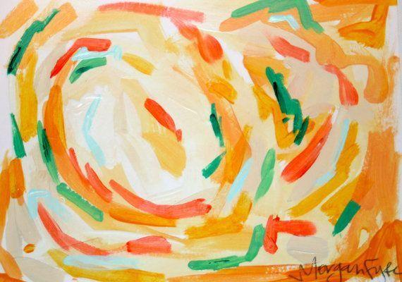 Orange Abstract III by Morgan Fyfe #abstractartistsiii ...